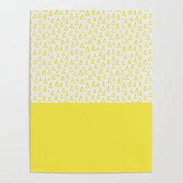 Triangles yellow Poster