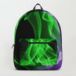 Smoke colour Green and purple Backpack