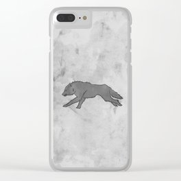 Wolf Banner Clear iPhone Case