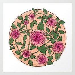 You Are a Rose in Orange Art Print