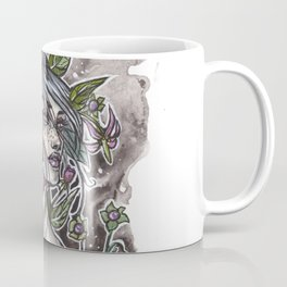 Nightshade Inktober Ink and Watercolor Illustration Coffee Mug