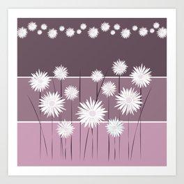 Purple Daisy Leggings Art Print
