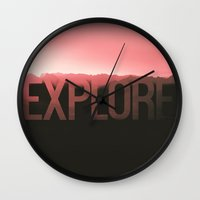 explore Wall Clocks featuring Explore by Schwebewesen • Romina Lutz