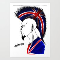 british Art Prints featuring british  by Carlos Acuna