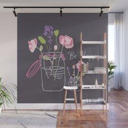 Be Happy Jars Wall Mural