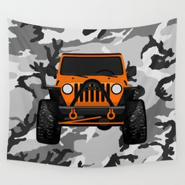 Jessica;s Orange TJ Wall Tapestry