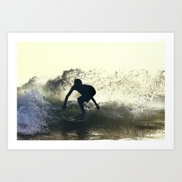 Surfing Costa Rica (180220-7157) Art Print