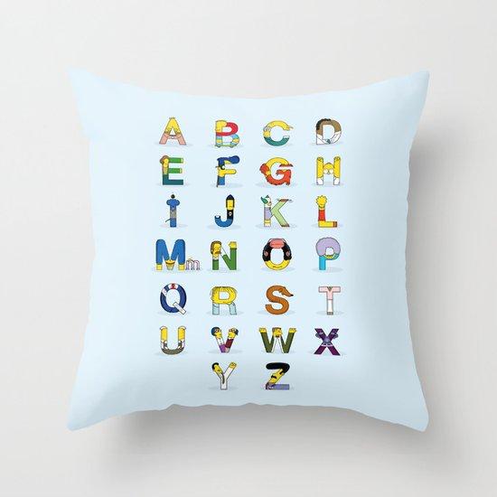 Simphabet Throw Pillow
