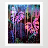Drippy Jungle {acid} Art Print