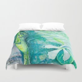 Anole and Jasmine Duvet Cover