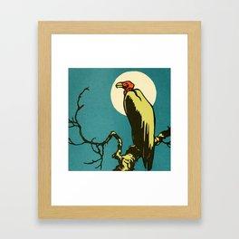 Vintage Animal Illustration of a Vulture Framed Art Print