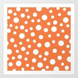 Crazy Dots: ORANGE Art Print