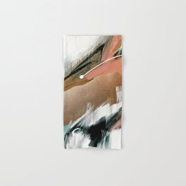 Head in the Clouds [2]: colorful abstract piece in pink, teal, gold, black and white Hand & Bath Towel
