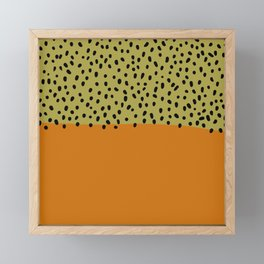 Abstract orange mid century art Framed Mini Art Print