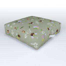 Polyhedral Dice- Garden Warrior Outdoor Floor Cushion