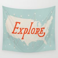 explore Wall Tapestries featuring Explore by Landon Sheely