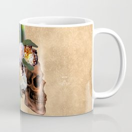 Awesome skull with feathers Coffee Mug
