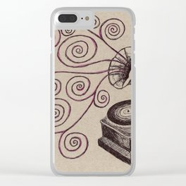 Music Spiralling Clear iPhone Case