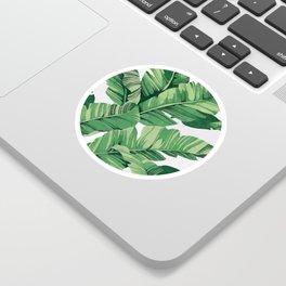 Tropical banana leaves VI Sticker