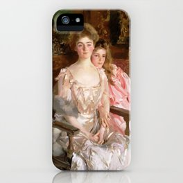 "John Singer Sargent  ""Mrs. Fiske Warren (Gretchen Osgood) and Her Daughter Rachel"" iPhone Case"