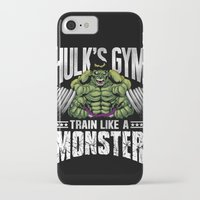 gym iPhone & iPod Cases featuring Hulk's Gym by Corey Courts