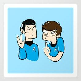 Spock You Art Print