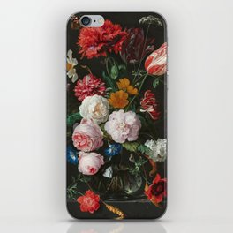 Still Life with Flowers by Jan Davidsz. de Heem iPhone Skin