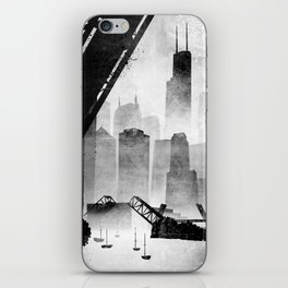 Sears Tower (from the Kinzie Bridge, Chicago, IL) iPhone Skin