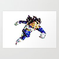 vegeta Art Prints featuring vegeta bubbles by codradical