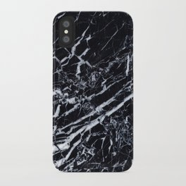 Real Marble Black iPhone Case