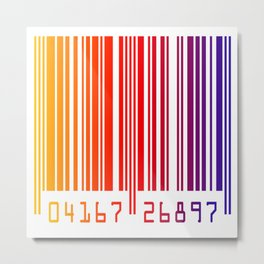 Colorful gradient barcode Metal Print