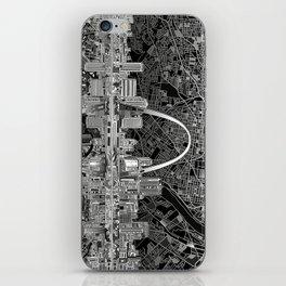 st louis city skyline map iPhone Skin