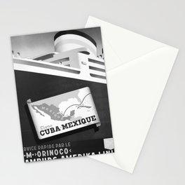 retro monochrome Cuba Mexique Stationery Cards