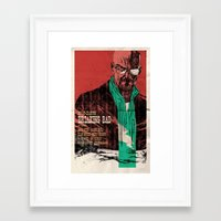 breaking bad Framed Art Prints featuring Breaking bad by Toni Infante