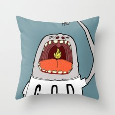 Swallow Them Up Throw Pillow