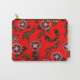 BED OF SNAKE ROSES Carry-All Pouch