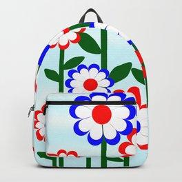 Retro Summer Flowers Backpack