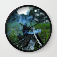 camp Wall Clocks featuring camp by jillian bogarde