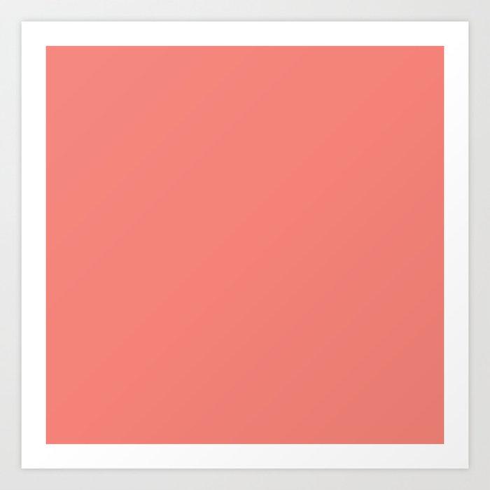 Coral Pink Solid Color Kunstdrucke