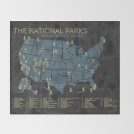 The National Parks: Adventurer's Guide Throw Blanket