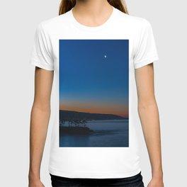 Crescent Moon Over Crescent Bay T-shirt