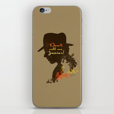 Don't call me Junior! – Indiana Jones Silhouette Quote iPhone & iPod Skin