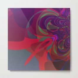 Abstract Fusion No.03 Metal Print