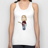 kurt rahn Tank Tops featuring Kokeshi Kurt by Pendientera