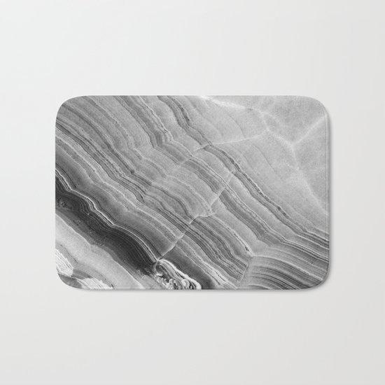Shades of grey marble Bath Mat