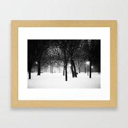 Night falls.  Framed Art Print