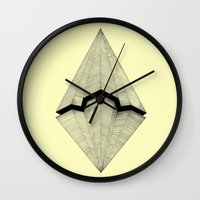 planes Wall Clocks featuring Paper Planes by Rui Ribeiro