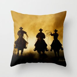 Three Cowboys Western Throw Pillow