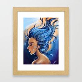 Blue Thoughts Framed Art Print
