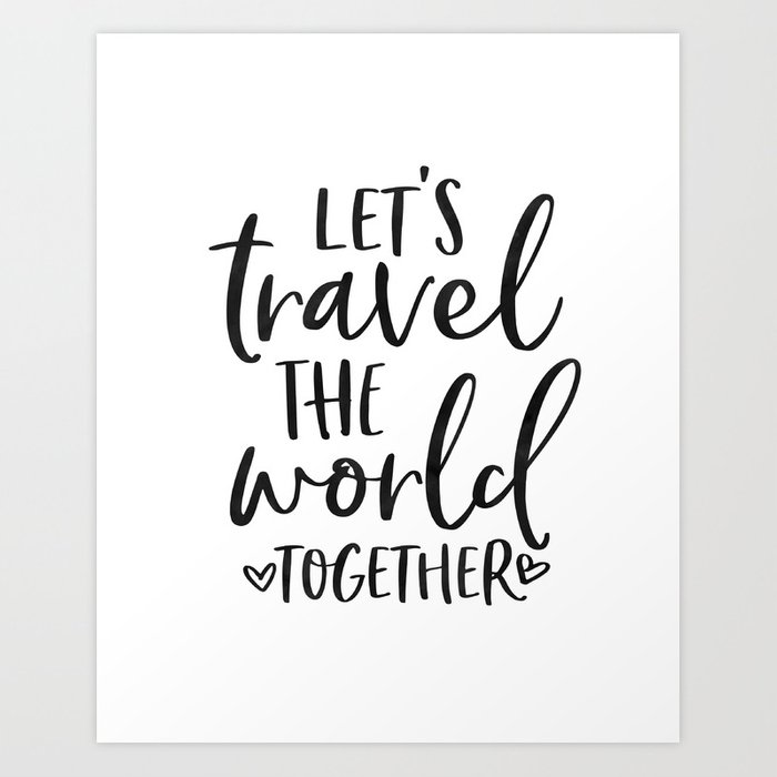 TRAVEL POSTER, Let's Travel The World Together,Song Lyrics